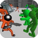 火柴人战斗模拟器僵尸监狱  v1.1 无限子弹版