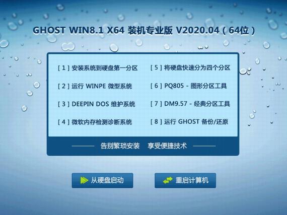 GHOST WIN8.1 X64 装机专业版 V2020.04 (64位)