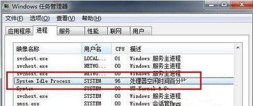 ��Xsystem idle process�M程的占用率高是什么原因?